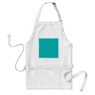 Teal and Black Polka Dot Pattern Aprons