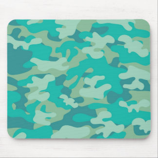 Teal and Blue Camo Mouse Pad