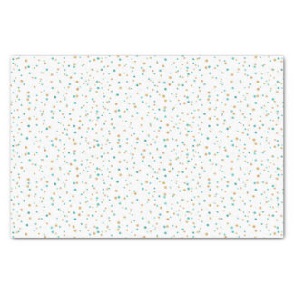 Teal and Brown Dots Tissue Paper