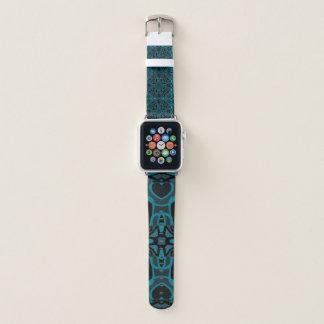 Teal and Charcoal Mandala Apple Watch Band