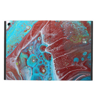 Teal and Copper Acrylic Abstract iPad Air Case