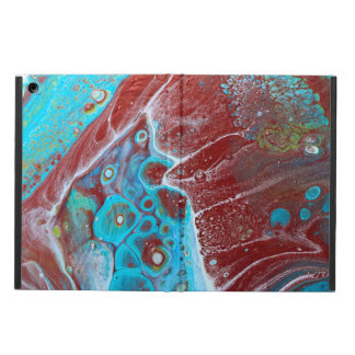 Teal and Copper Acrylic Abstract iPad Air Cover