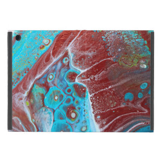 Teal and Copper Acrylic Abstract iPad Mini Cover