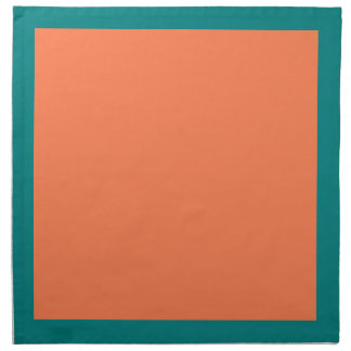 Teal and Coral-Colored Napkins