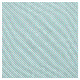 Teal and Coral Stripes Fabric