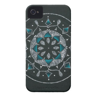 Teal and Dots Mandala iPhone 4 Cover
