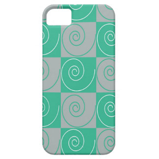 Teal and Gray Mousey Tails Barely There iPhone 5 Case