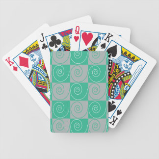 Teal and Gray Mousey Tails Bicycle Playing Cards