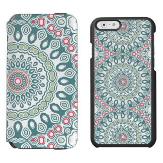 Teal and Green Global Style Medallion Incipio Watson™ iPhone 6 Wallet Case