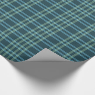 Teal and Green Tartan Wrapping Paper
