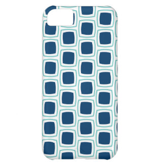 Teal and Navy Blue Modern Geometric Pattern iPhone iPhone 5C Cases
