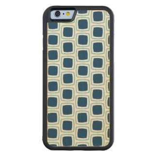 Teal and Navy Blue Modern Geometric Pattern iPhone Carved® Maple iPhone 6 Bumper Case