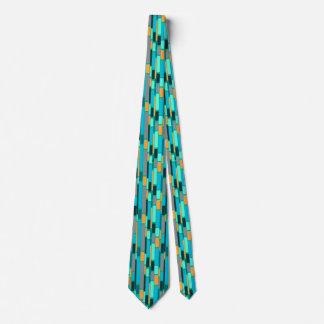 Teal and Orange retro style tie1960's style Tie