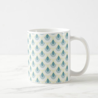 Teal-and-Pale Yellow Scale Pattern Mug