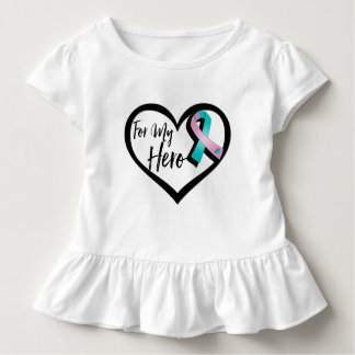 Teal and Pink Awareness For My Hero Tshirts