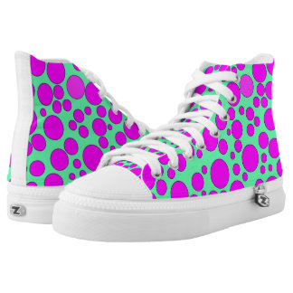 TEAL AND PINK BUBBLES HIGH-TOP SNEAKERS