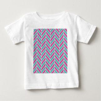 Teal and Pink Herringbone Baby T-Shirt