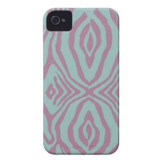 Teal and Pink Zebra print Iphone4/4s case-mate iPhone 4 Cases