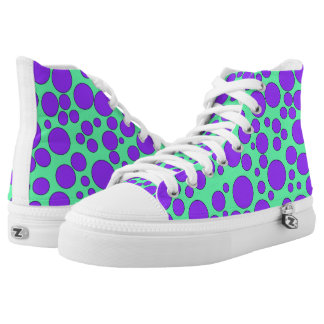 TEAL AND PURPLE BUBBLES HIGH-TOP SNEAKERS
