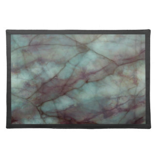 Teal and Purple Fluorite Marble Cloth Placemat