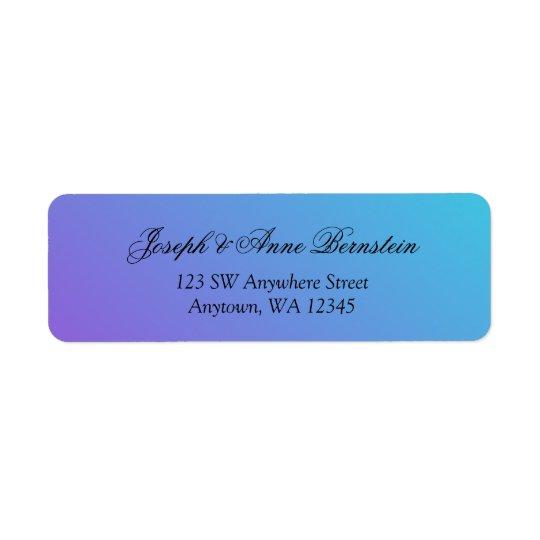 Teal and Purple Return Address Return Address Label
