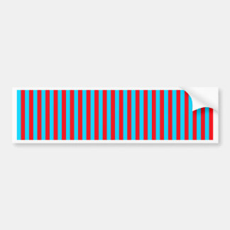 Teal and Red Stripes Bumper Stickers