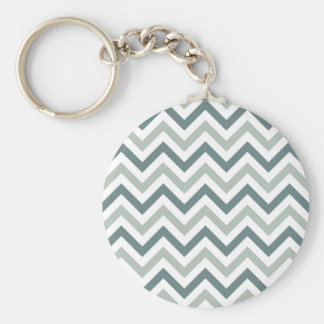 Teal and sage chevron key ring