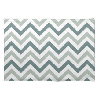 Teal and sage chevron placemat