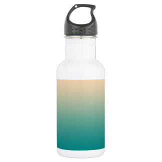 Teal and sand yellow gradient 532 ml water bottle