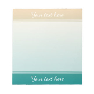 Teal and sand yellow gradient notepad