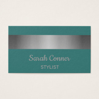 Teal and Silver. Business Card