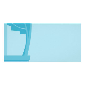 Teal and Turquoise Abstract Photo Card Template