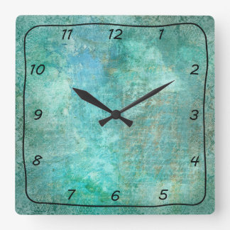 Teal and Turquoise Beautiful Patterned Clock