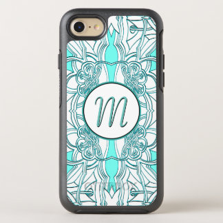 Teal and Turquoise Monogrammed OtterBox Symmetry iPhone 8/7 Case