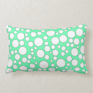 TEAL AND WHITE BUBBLES THROW PILLOW