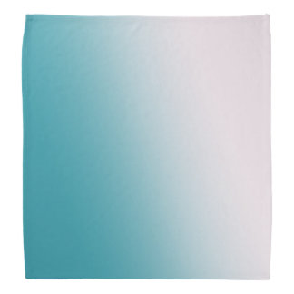 Teal and White Gradient Bandana