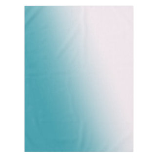 Teal and White Gradient Tablecloth