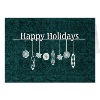 Teal and White Holiday Greeting Card