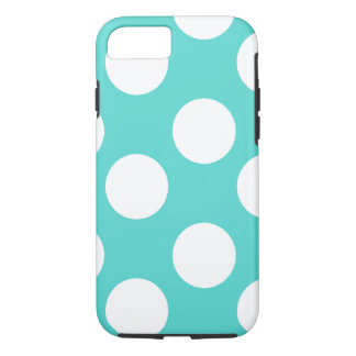 Teal and White Polka Dot Phone Case