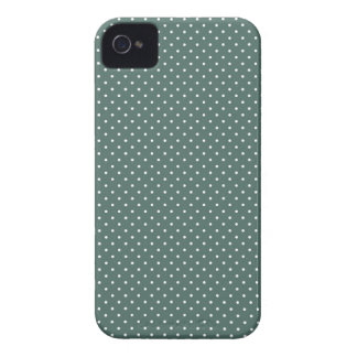 Teal and white polka dot pin dots print iphone 4 iPhone 4 Case-Mate cases