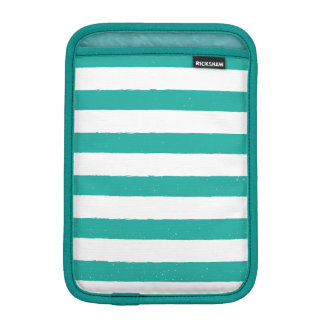Teal and White Stripes Sleeve For iPad Mini