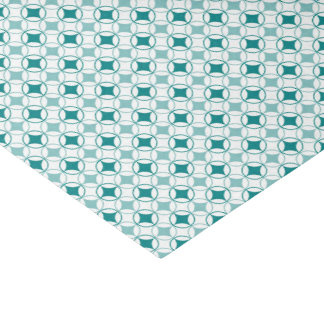 Teal and White Tissue Paper