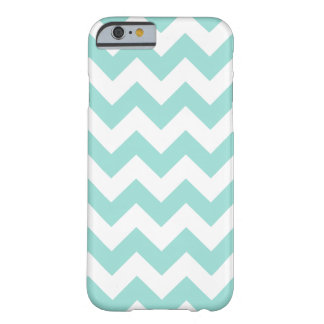 Teal and White Zigzag Chevron Pattern Barely There iPhone 6 Case
