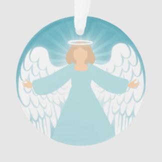 Teal Angel Ornament
