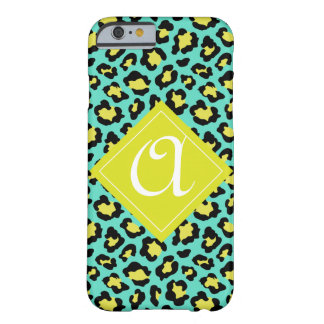 Teal Animal Print Barely There iPhone 6 Case