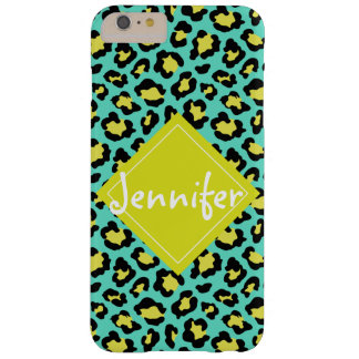 Teal Animal Print Barely There iPhone 6 Plus Case