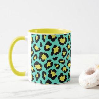 Teal Animal Print Mug
