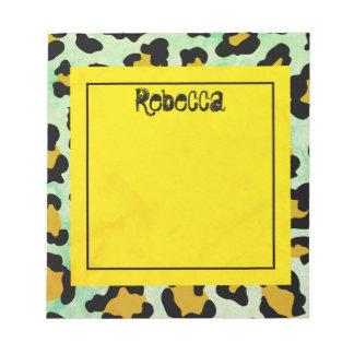 Teal Animal Print Notepad