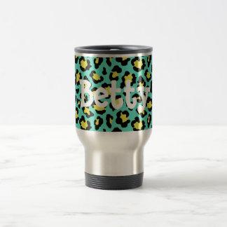 Teal Animal Print Travel Mug
