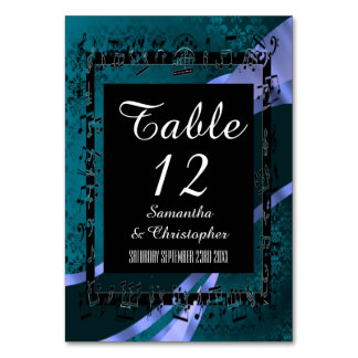 Teal aqua blue, black and personalised number card